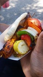 These chicken kabobs were fiyah